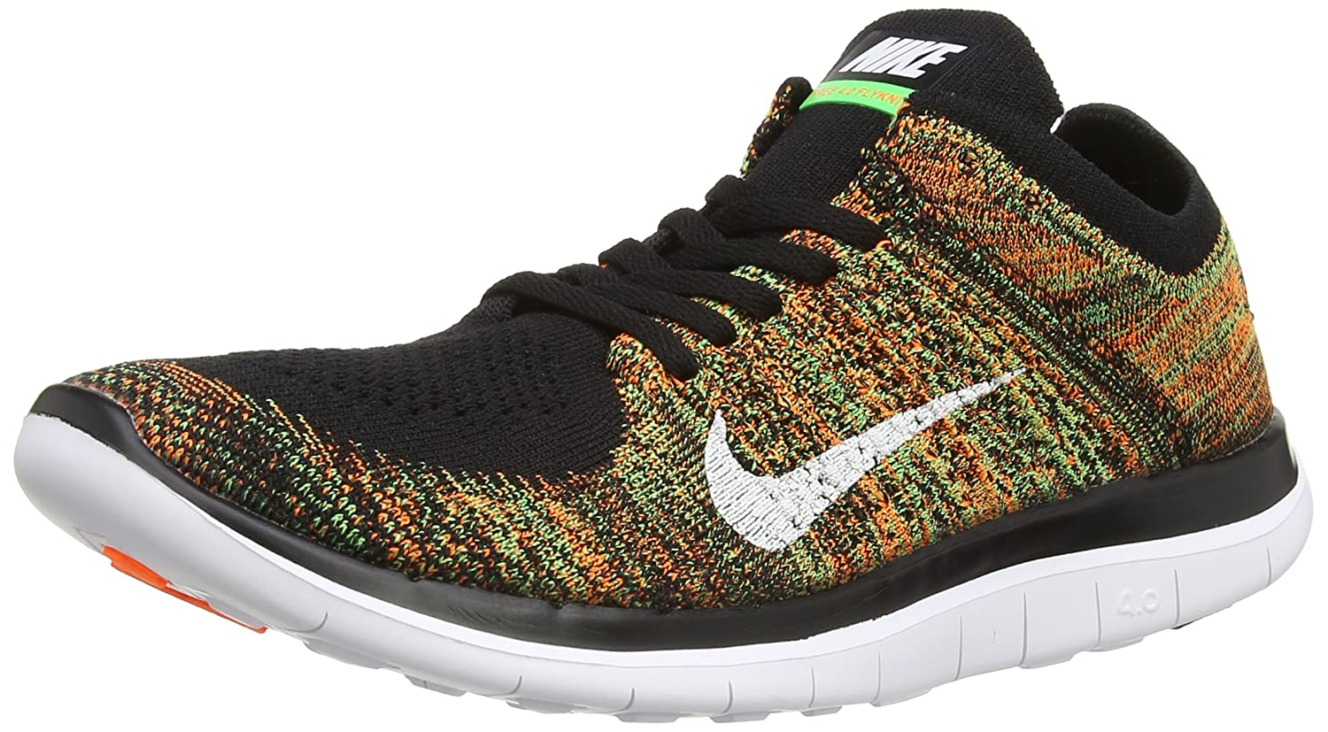 Tidsmæssigt Amazon.com | Nike Mens Free 4.0 Flyknit Black/White/Psn Green/Ttl YY-47