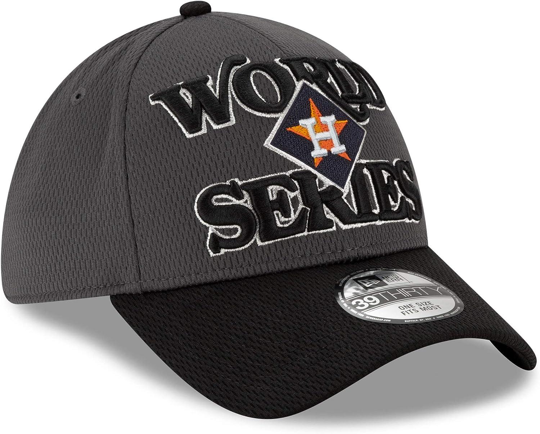 Stretch Fit Cap OSFM New Era Houston Astros 39THIRTY 2019 American League Champions Locker Room World Series Flex Hat