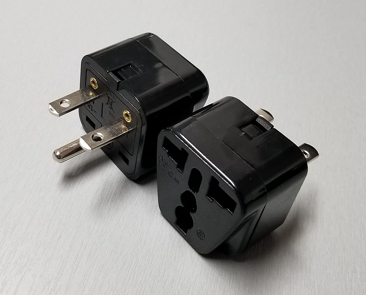 Universal Plug Adapter Nema 6 15p 208 220 230 240 Maximum Number Of Receptacles On 15 Amp Circuit Electrical Diy Volt Amps Max Black 1 Pack Home Audio Theater