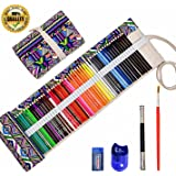 Premier Colored Pencils for Adults and Artist Coloring Books, Premium Colored Pencil Set (72 Count), Pure Handmade Canvas Pencil Wrap, Extra Accessories Included, Gift, Star-Joy