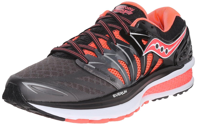 Saucony Women's Hurricane ISO 2 Road Running Shoe B00YBE1CXK 6.5 B(M) US Black/Charcoal/Coral