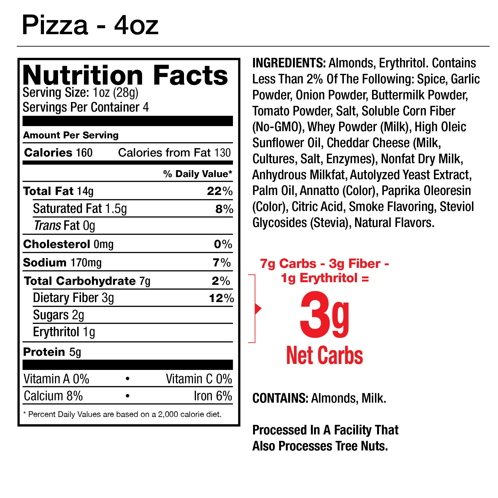 Legendary Foods Seasoned Almonds | Keto Friendly, Low Carb, Good Protein & Fat | Pizza Flavored (4oz, Pack of 4) by Legendary Foods (Image #3)
