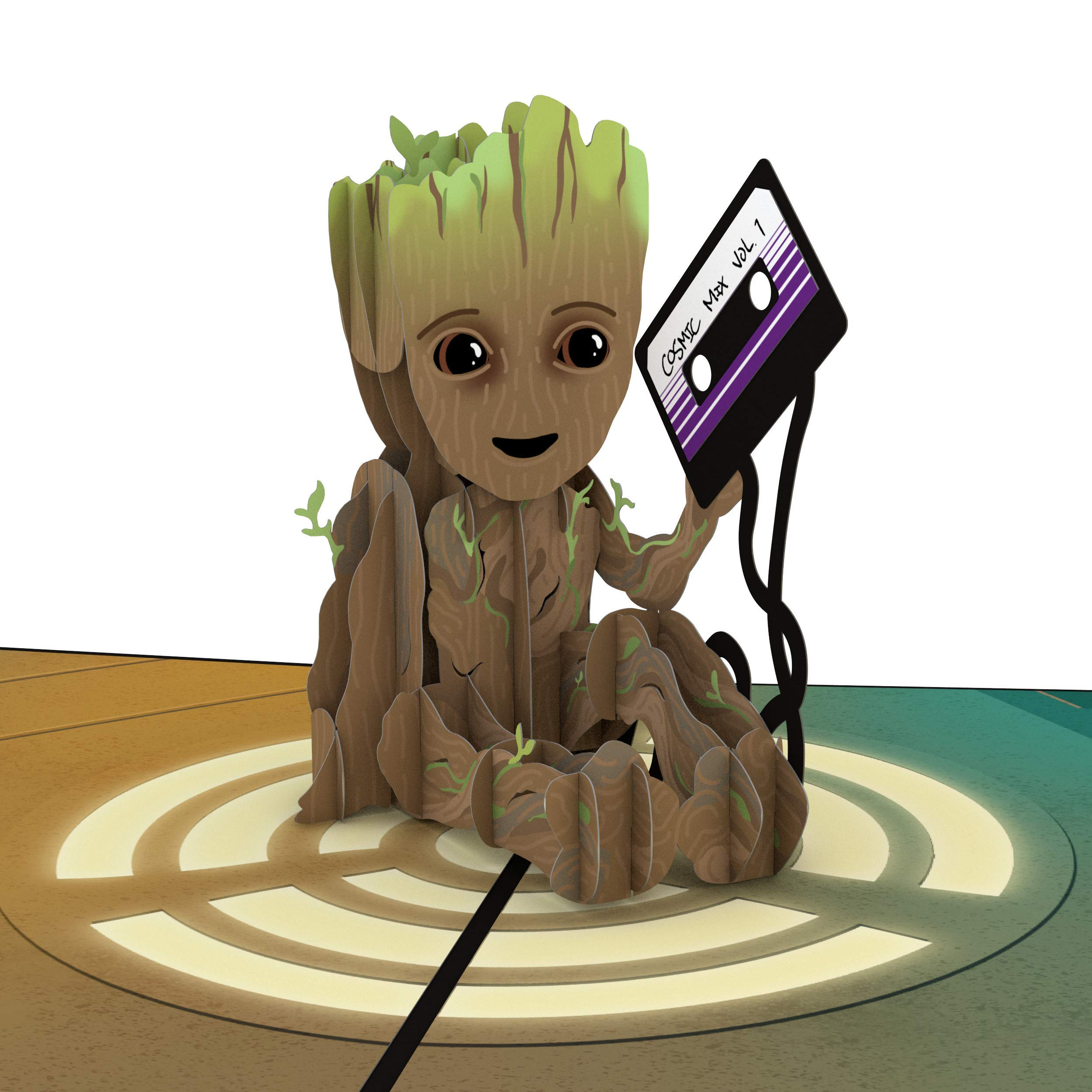 Lovepop and Marvel's I Am Groot 3D Pop Up Greeting Card, Guardians of The Galaxy Birthday Card, Superhero Birthday Card, 3D Greeting Cards