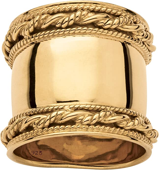 22 Karat Hammered Gold Cigar Band PALLAS Ring