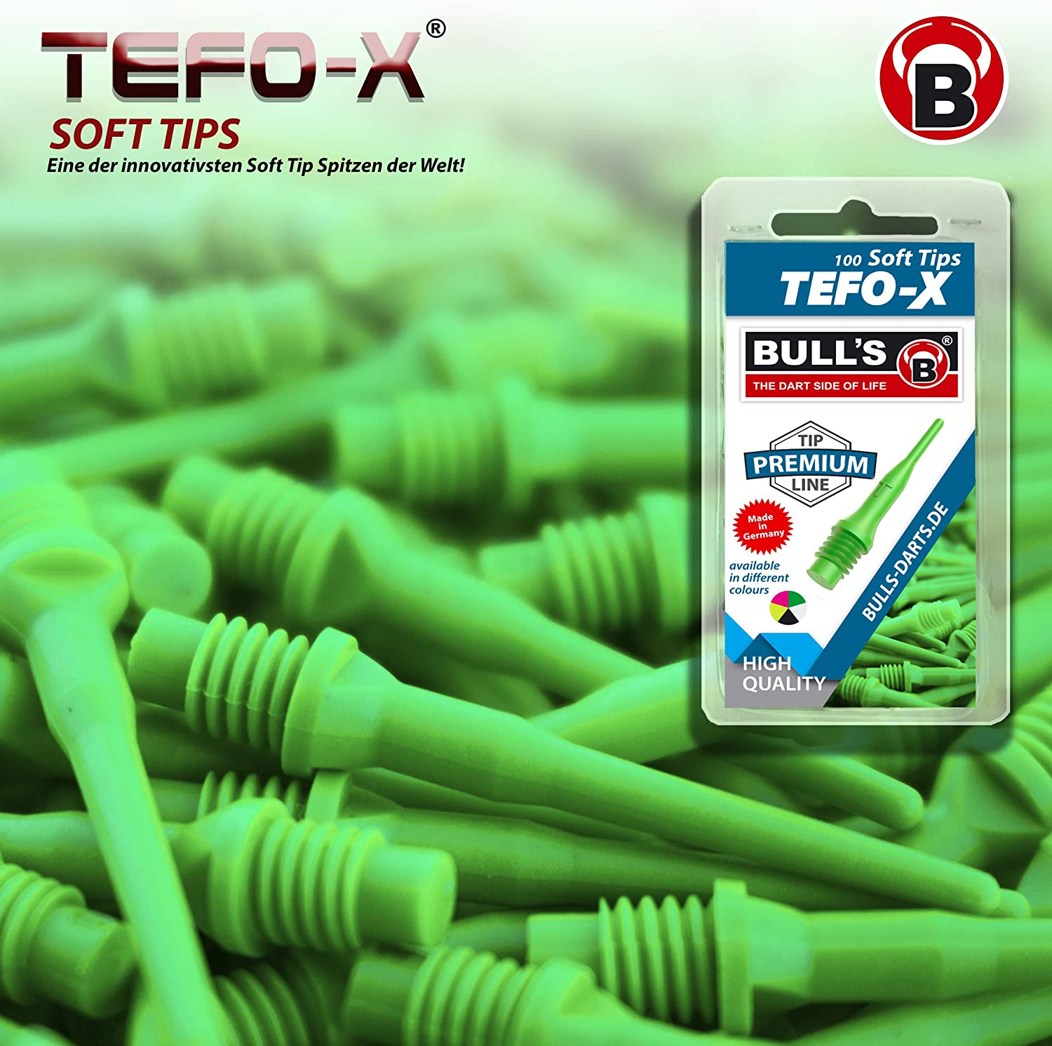 Bulls apos;s x 2BA Soft Tips Type: Tefo Long Pack of 100