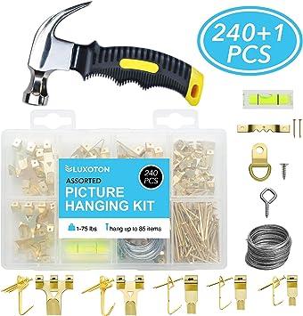 Photo Hanging Kit avec clips crochets wire /& CLOUS-Cadre Toile Crochets Photo