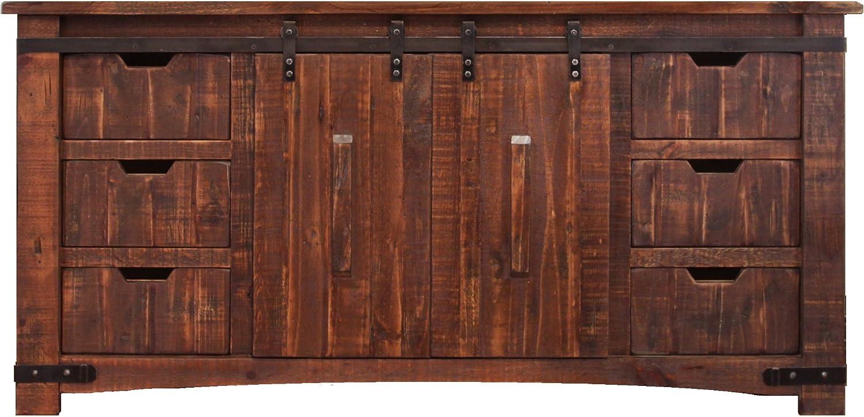 RR Anton - Consola de Puerta corredera de Madera Natural, 177,8 cm de Ancho, rústico: Amazon.es: Juguetes y juegos