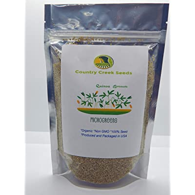 Quinoa Sprouting Seed, Organic, Non GMO - 6 oz - Country Creek Acres Brand - Quinoa for Sprouts, Garden Planting, Cooking, Soup, Emergency Food Storage, Vegetable Gardening, Juicing, Cover Crop : Garden & Outdoor