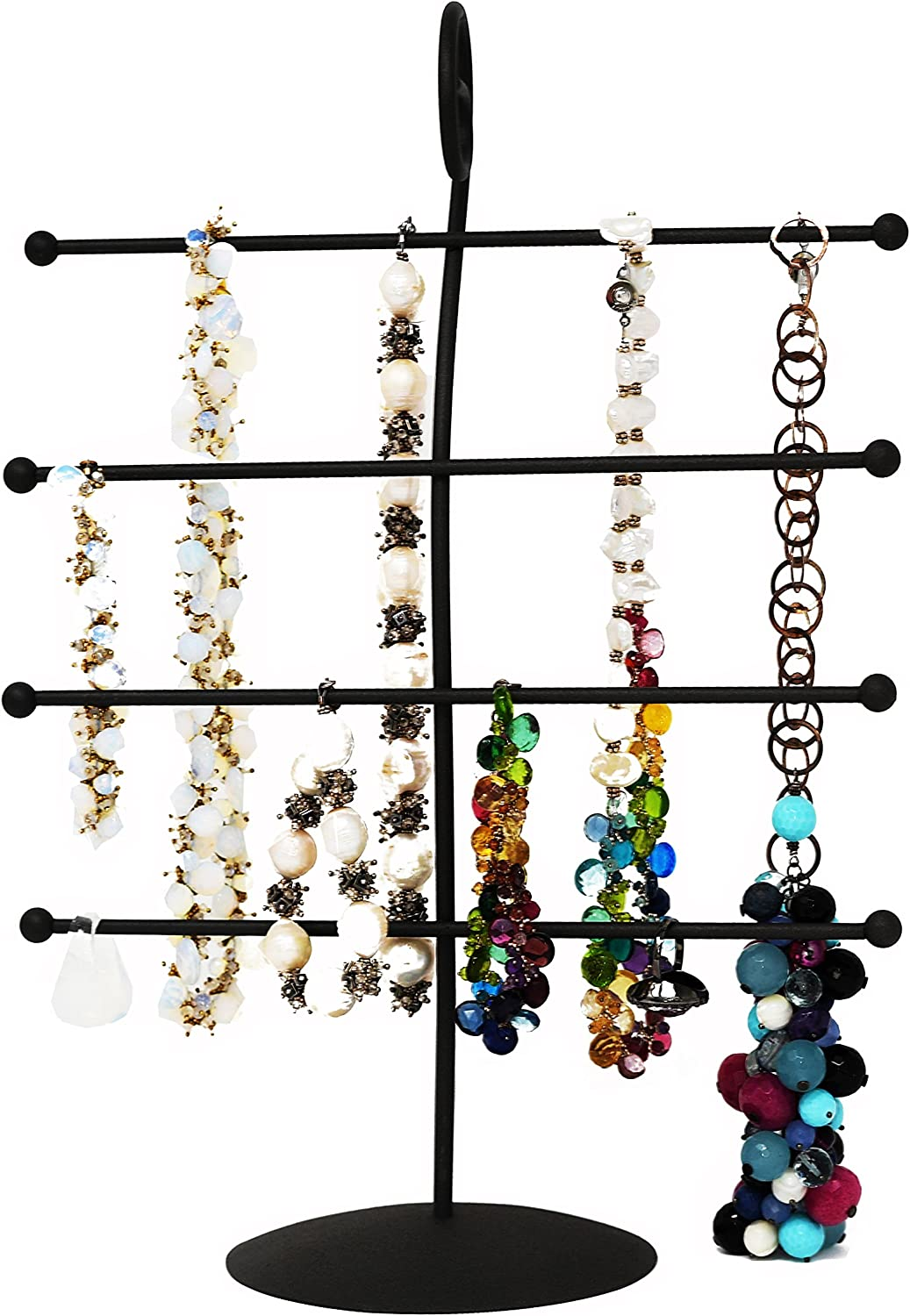 Arad Decorative Black Scroll 4 Tier Bracelet Necklace Earrings Rings Watches Jewelry Organizer Amazon Ca Home Kitchen