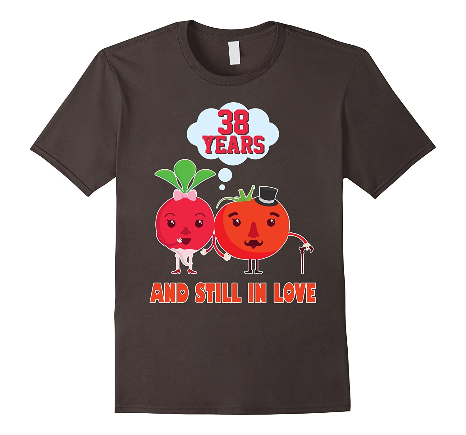 38th Wedding Anniversary Gift Ideas: 38th Wedding Anniversary T-Shirt For HusbandWife Cool Gift