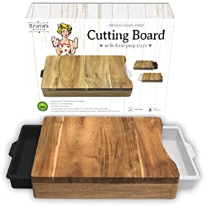 Cutting Board with Trays