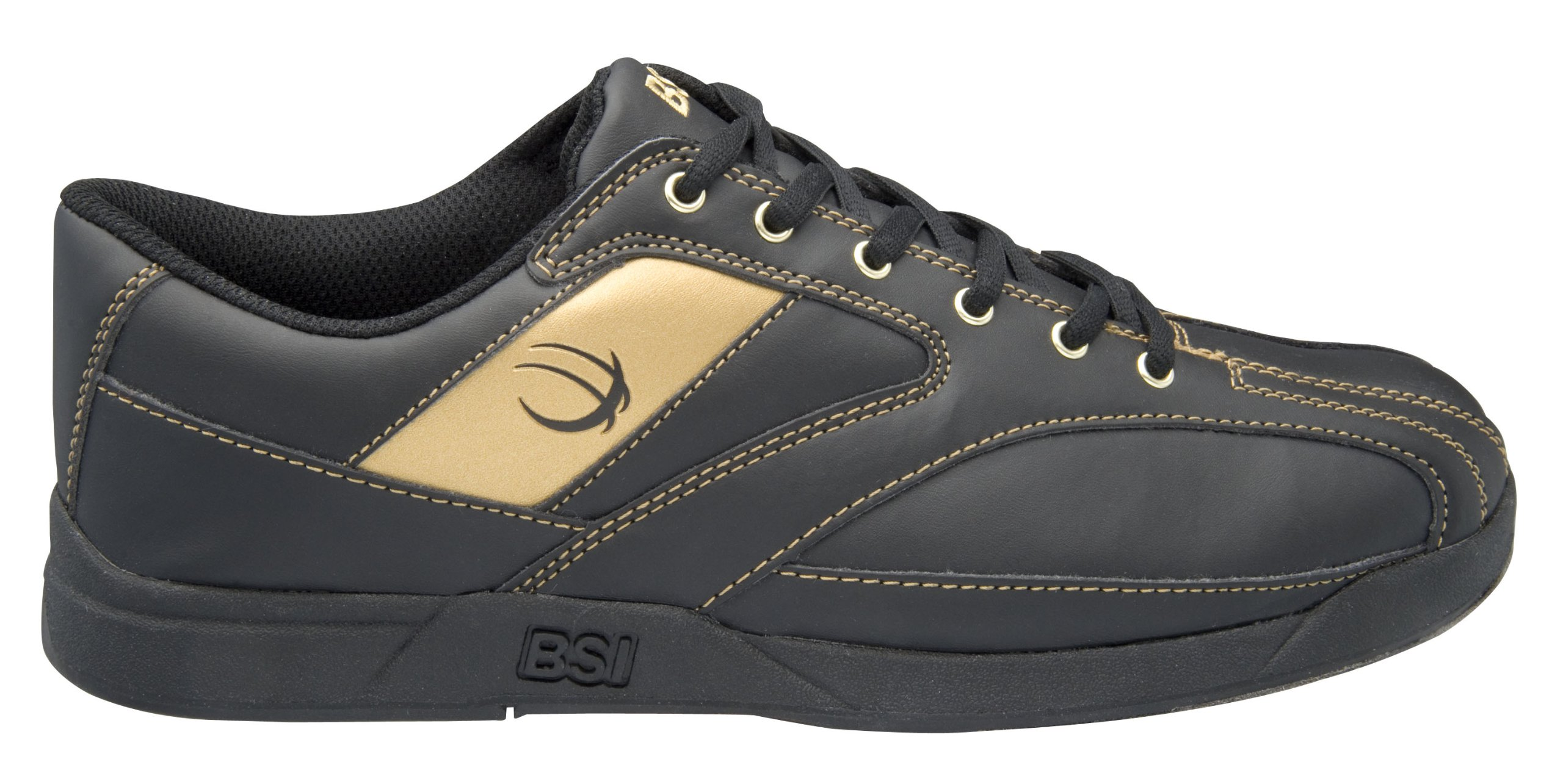 BSI Men's 571 Bowling Shoe, Black/Gold, Size 6