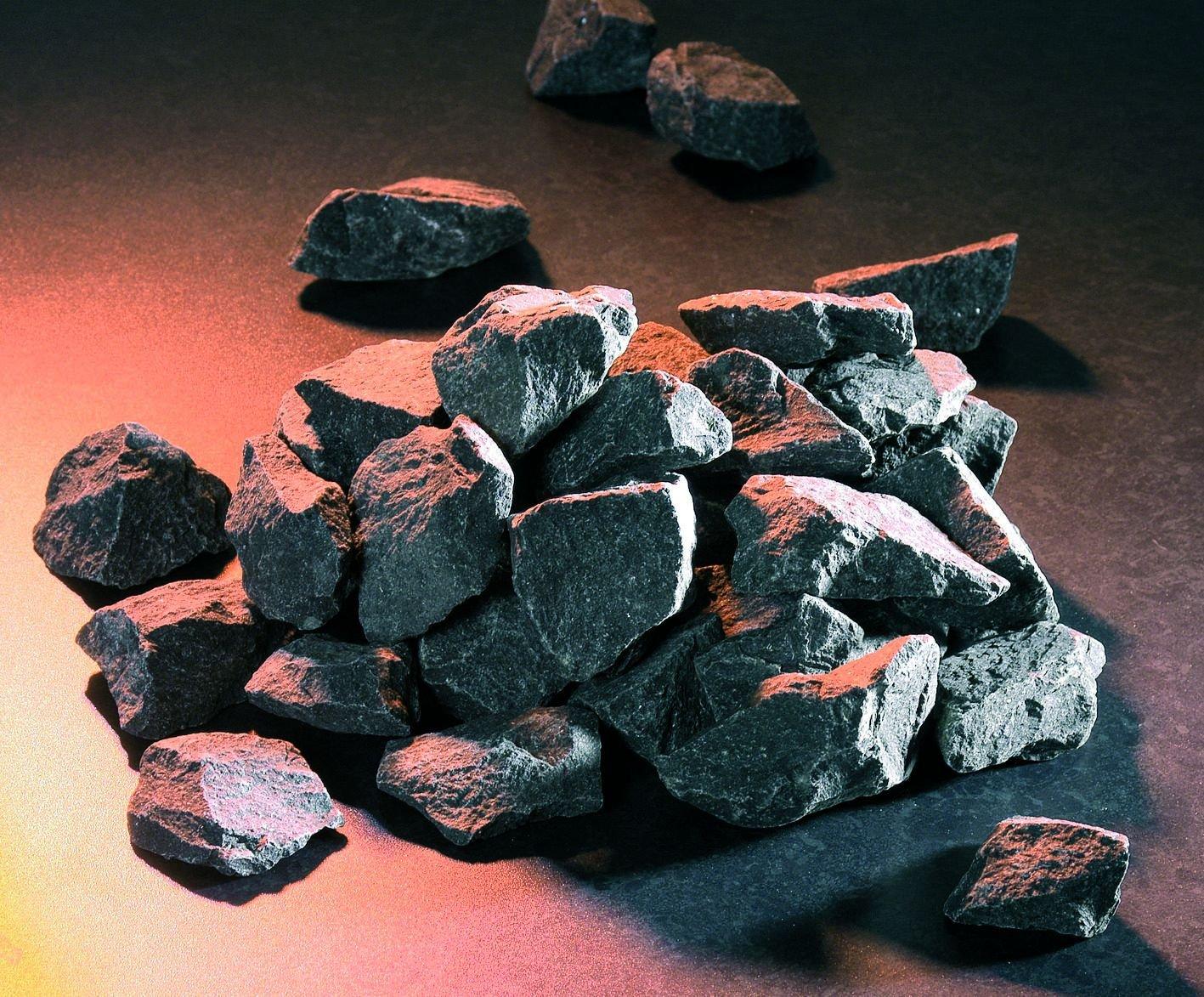 Saunasteine - echtfinnische Saunasteine 20 kg - von Weigand Wellness fü r elektrische- und holzbefeuerte Saunaö fen Ofen