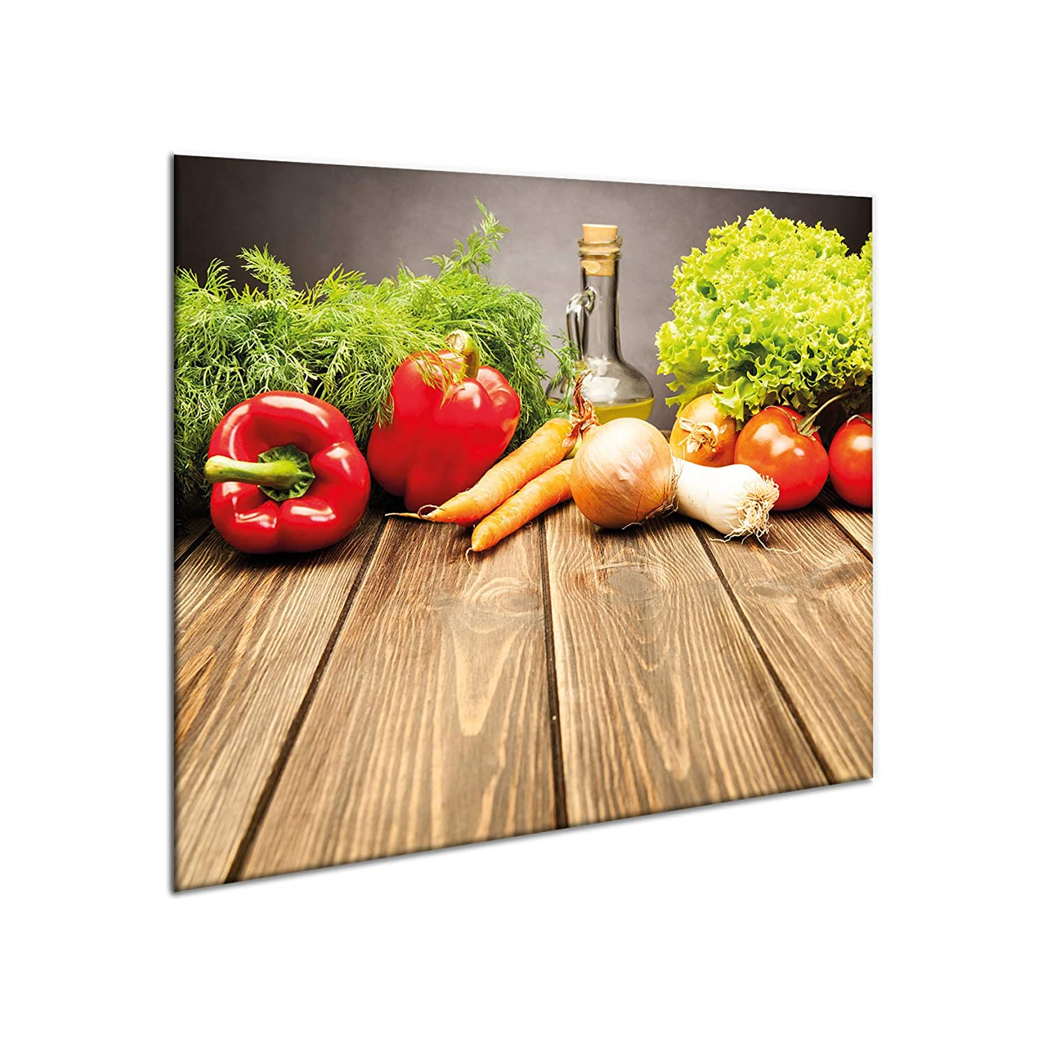 Glass hob protector | Giant chopping board | Splash-back guard | 60cm x 52cm large universal worktop saver for induction electric ceramic halogen cookers | Hardened glass multi-use panel | Stove protector plate | Heat resistant & durable | by Sema Des