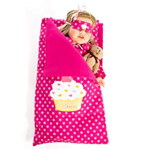 Beverly Hills Reversible Doll sleeping bag Fits American girl 18'' Doll