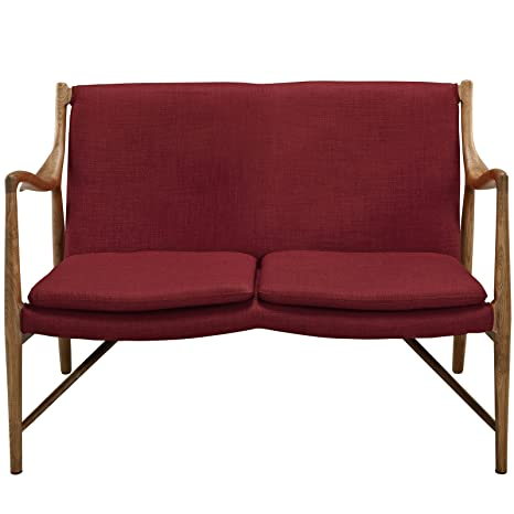 Amazon.com: Moderno y Contemporáneo Loveseat tapizado, color ...