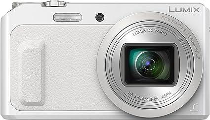 Panasonic Lumix DC-TZ57 - Cámara Compacta de 16,1 MP (Super Zoom, Objetivo F3.3-F6.4 de 24-480mm, Zoom de 20X, Wifi, Pantalla Abatible), Color Blanco