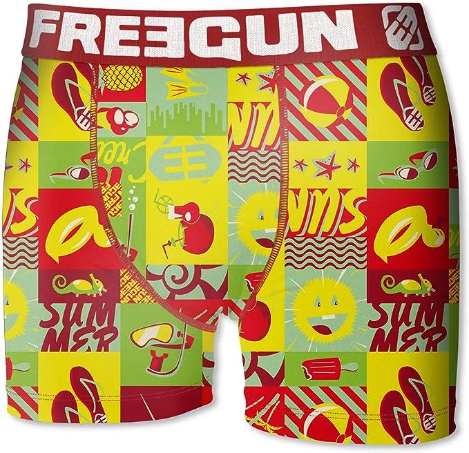 FREEGUN Pack 2 Calzoncillos Boxer Color Azul y Rojo para niño para Niños: Amazon.es: Ropa y accesorios