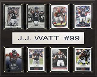 product image for NFL Houston Texans J.J. Watt 8-Card Plaque, 12 x 15-Inch
