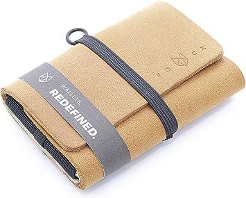 Tarjetero Slim Wallet con leng/üeta peque/ño Monedero Fabricado en Alemania FOCX R3 Purist Mini Monedero de Piel para Tarjetas y Billetes Tarjetero para Hombre y Mujer