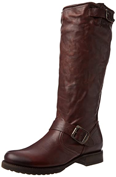 FRYE Womens Veronica Slouch Boot Dark Brown Soft Vintage Leather