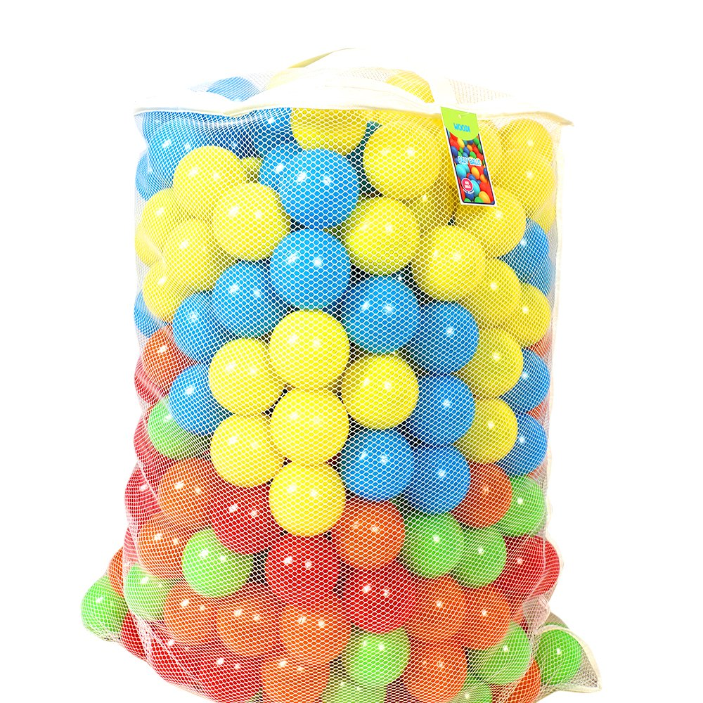 woodi Crush Proof Pit Balls, Made of Food Grade Plastic, Phthalate/BPA Free, 6 Colors and Carry Out Mesh Net, 400 Piece