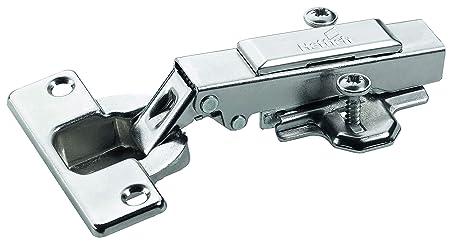 Hettich 9219544 Intermat Topfscharnier (Scharnier) -mit Klipsmontage, vorliegend-für Türdicken ab 15-25 mm, 6 STK, Vernickelt
