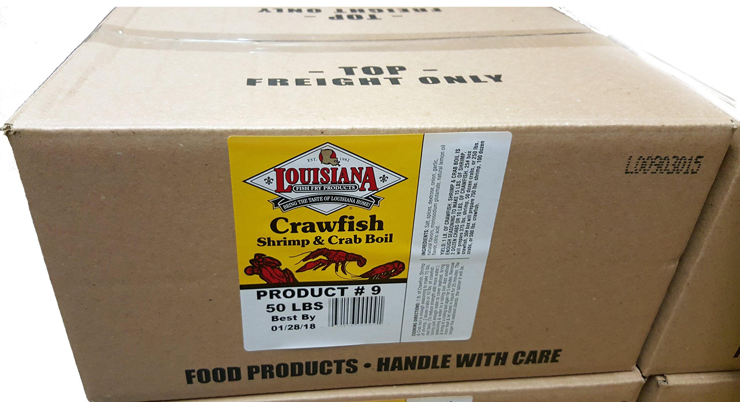 Louisiana Fish Fry Crawfish, Shrimp & Crab Boil seasoning 50lb BULK (50 Pounds)