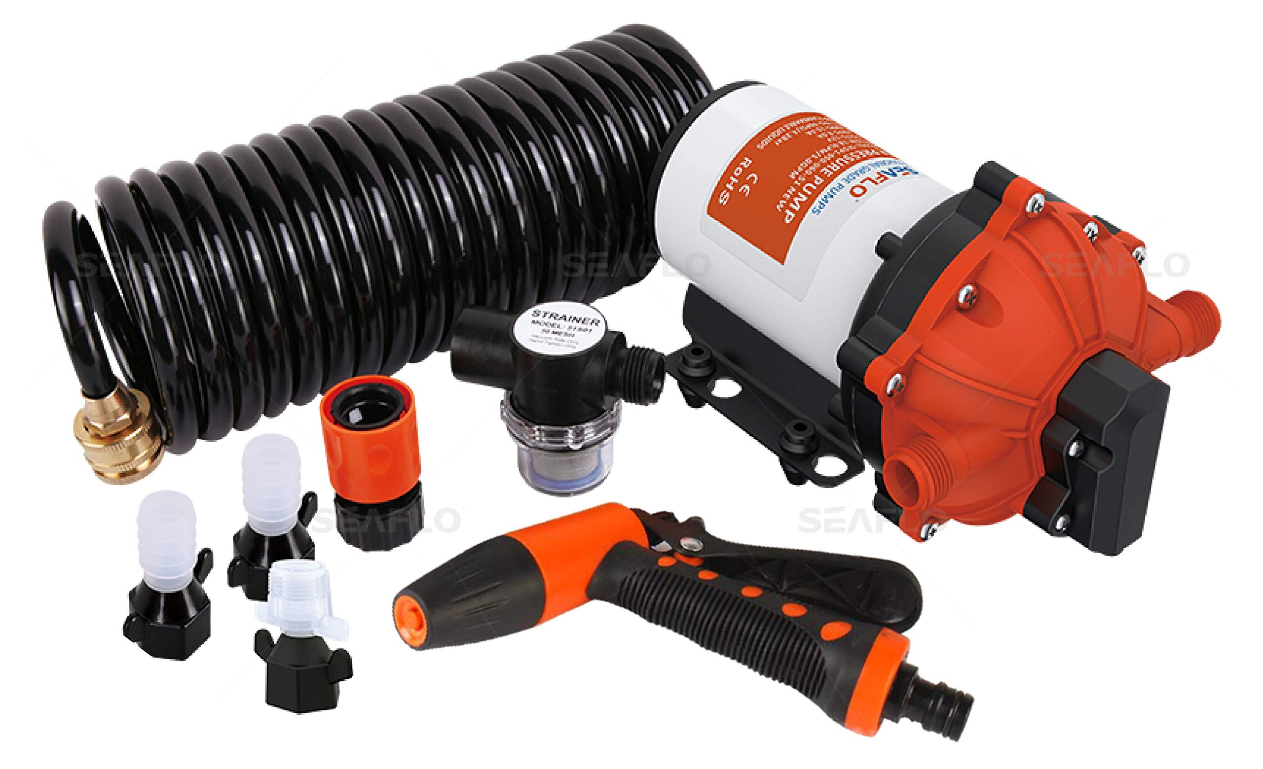 SEAFLO 55-Series Washdown Pump Kit - 12V DC, 5.2 GPM, 70 PSI by SEAFLO