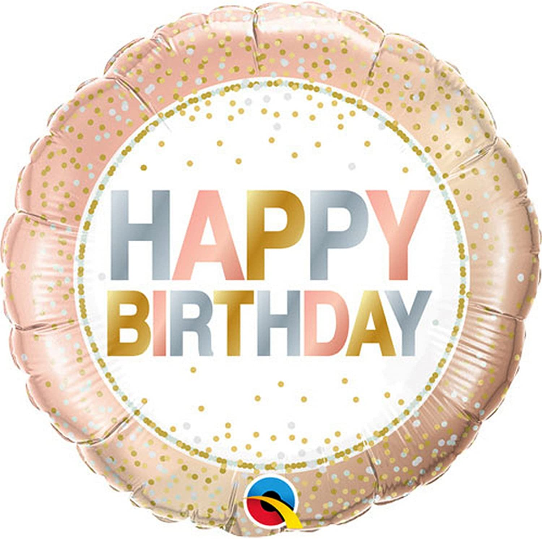 "Birthday Black Glitz Happy Birthday Round Prism Foil Balloon 18/"""