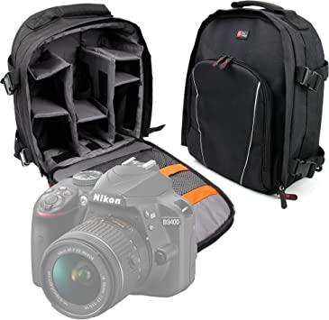 DURAGADGET Mochila para Cámara Nikon D3400 Resistente Al Agua + ...