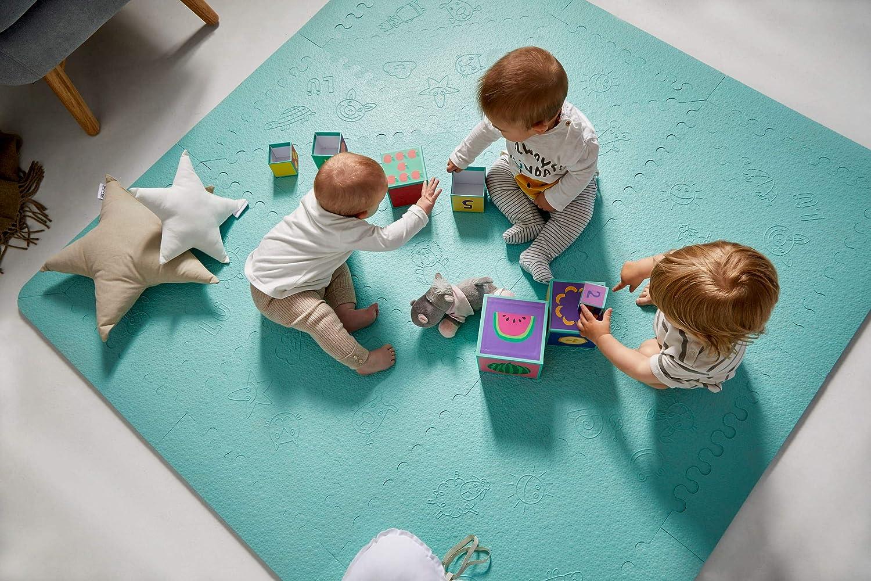 LuBabymats - Alfombra puzzle infantil para bebés de Foam (EVA), suelo extra acolchado para niños, color Mint