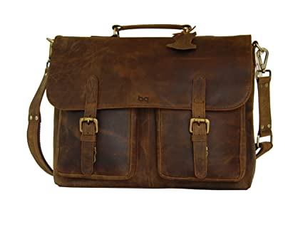 beafbe326854 Image Unavailable. Image not available for. Color  Full Grain Leather  Briefcase ...