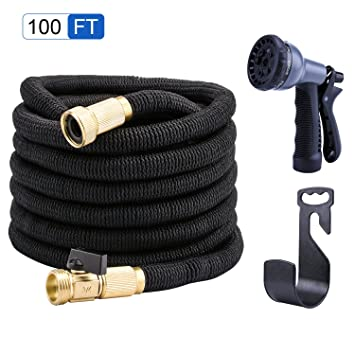 PhoebusTech 100ft Expandable Garden Hose Set, Extends To 100ft Handy U0026 Kink  Free,