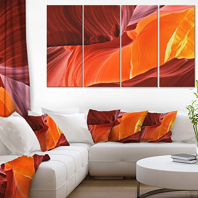 Designart Midday In Antelope Canyon Landscape Photo On Canvas Art Wall Photgraphy Artwork Print Amazon In Home Kitchen