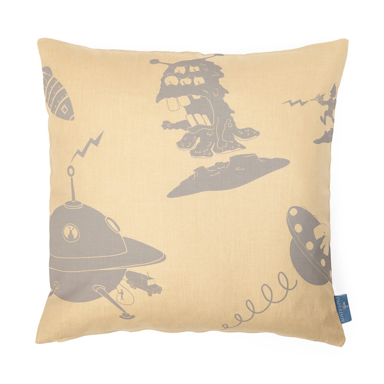 Green The Pillow Collection P18-R0B-FUNPAISLEY-BILLIARDGREEN-C100 Efharis Paisley Pillow