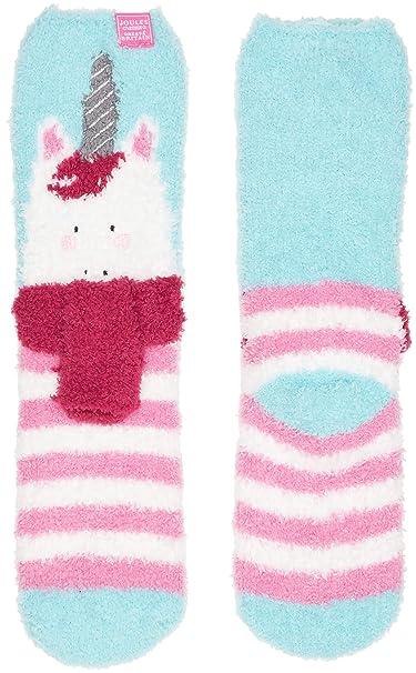 Joules Fluffy, Calcetines para Niñas, Multicolor (Unicorn), Small: Amazon.es: Ropa y accesorios