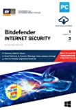 BitDefender Internet Security Latest Version with Ransomware Protection (Windows) - 1 User, 3 Years (Email Delivery in 2 hours - No CD)