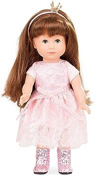 Götz 1713029 Just Like me - Prinzessin Chloe Puppe - 27 cm große Stehpuppe mit extra Langen braunen Haaren, blauen Schlafauge