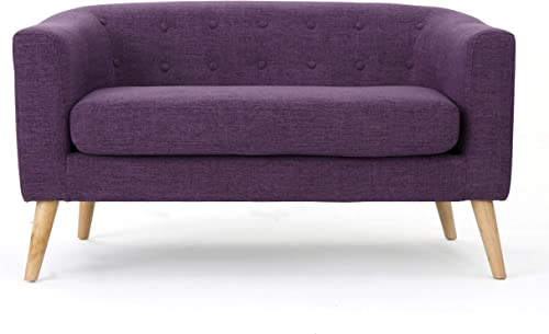 Christopher Knight Home Bridie Mid-Century Modern Loveseat - a good cheap living room sofa