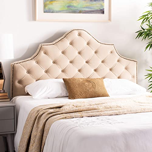 Safavieh Mercer Collection Arebelle Buckwheat Velvet Headboard
