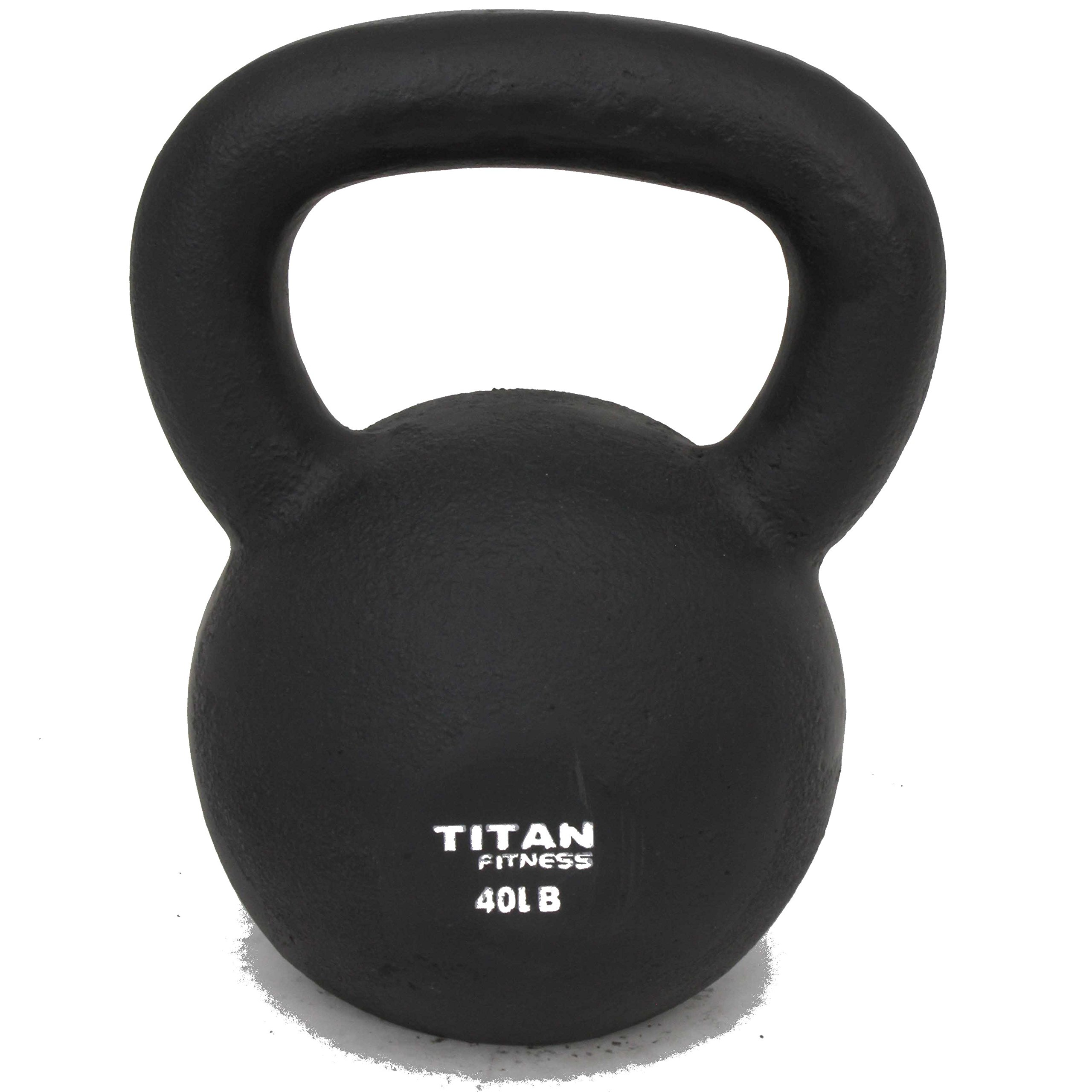 Titan Fitness Cast Iron Kettlebell Weight 40 Lbs Natural Solid Workout Swing by Titan Fitness