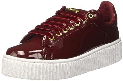 Guess Damen Denky Sneakers, Rot (Wine), 38 EU