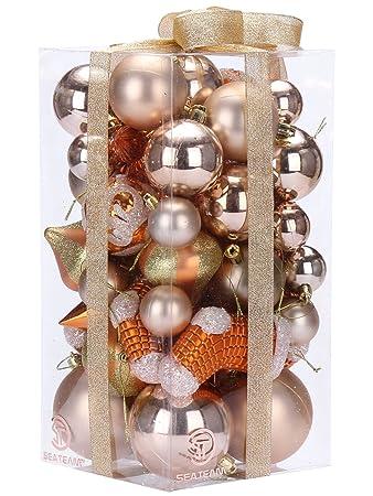 Amazoncom Sea Team 50Pack Assorted Shatterproof Christmas Balls