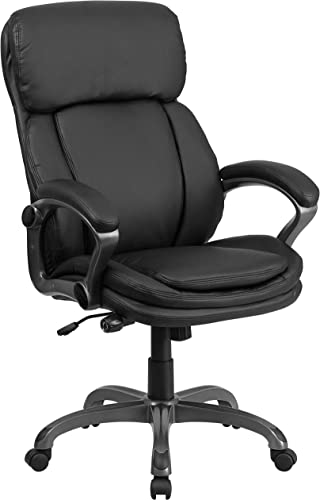 Flash Furniture High Back Black LeatherSoft Executive Swivel Ergonomic Office Chair