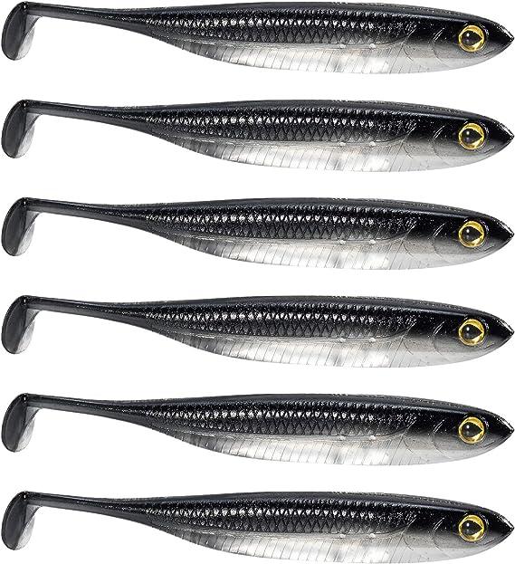 New Easy Shiner Shad Soft Lure Silicone Swimbait Big Tail Zool Pike Perch Zander