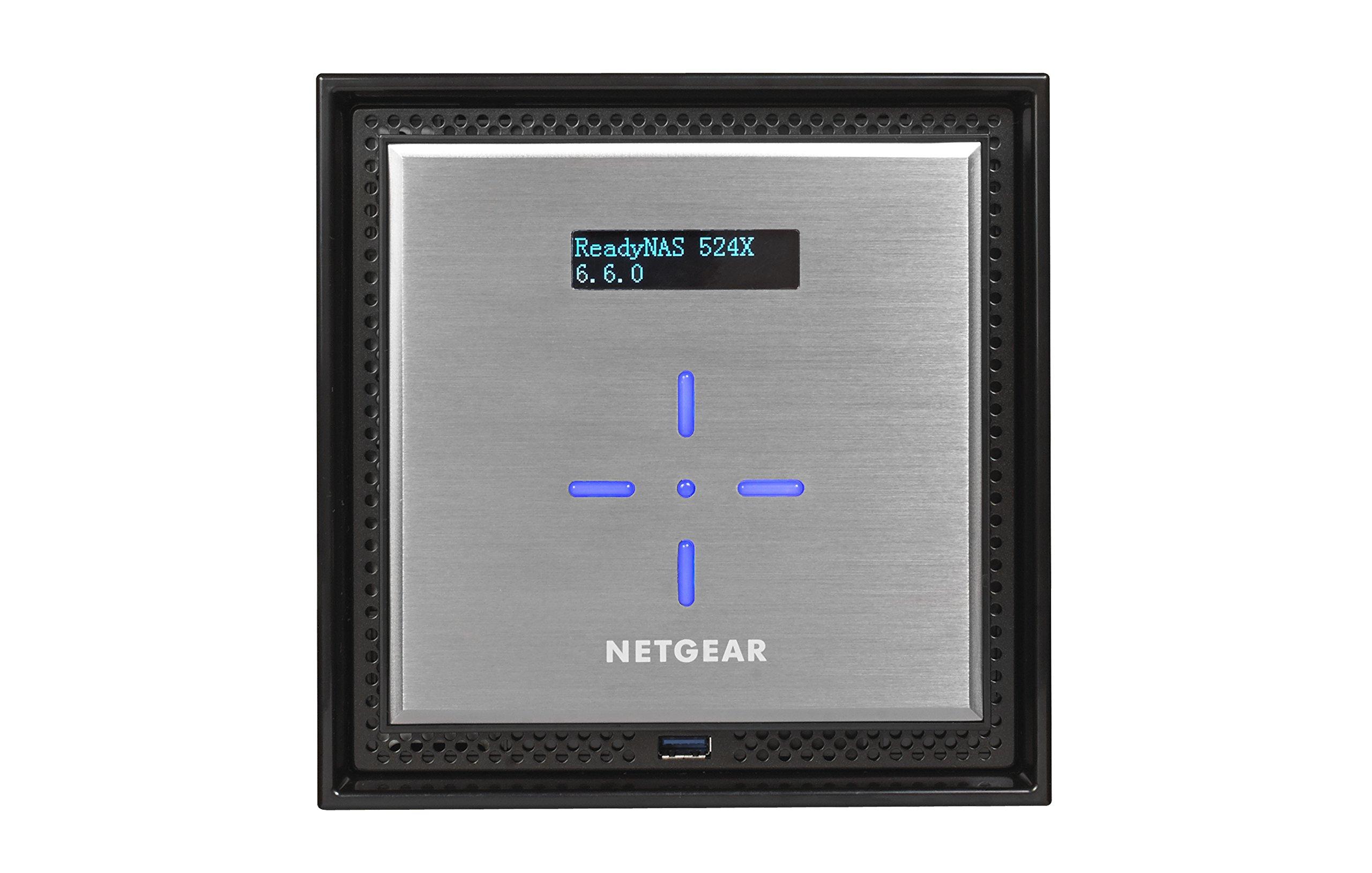 NETGEAR ReadyNAS RN524X00 4 Bay Diskless Premium Performance NAS, 40TB Capacity Network Attached Storage, Intel 2.2GHz Dual Core Processor, 4GB RAM by NETGEAR