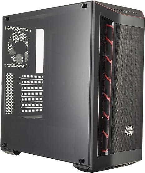 Cooler Master MasterBox MB511 Midi-Tower Negro, Rojo - Caja de ...