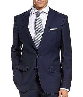 3805be142 Hugo Boss C-Huge1S Wool Two Button Suit Jacket Men's Slim fit Blazer Dark  Royal