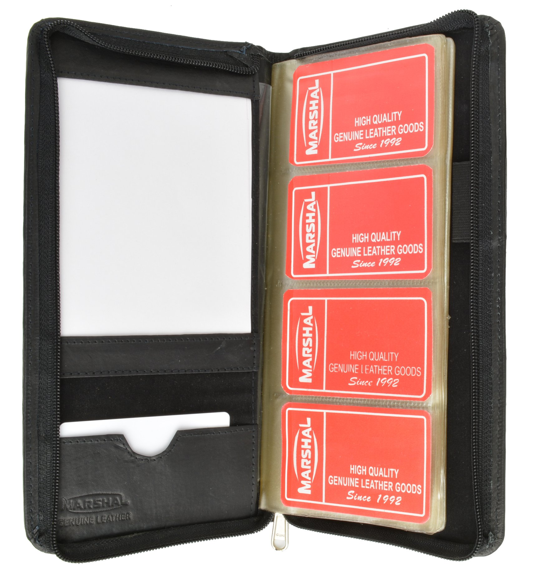 72 Count Credit Card/Business Card Holder with Zip Around Closure (Black)